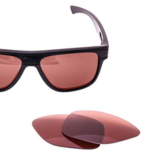 LenzFlip Replacement Lenses for Oakley Breadbox Sunglass - Rose Polarized - Breadbox Sunglasses