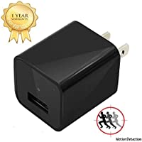 USB Wall Charger Camera, EOVAS HD 1080P Plug Camera Support Motion Detection with 32GB Internal Memory Perfect for Home / Office Surveillance