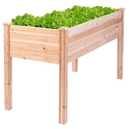Wooden Raised Vegetable Garden Bed Elevated Planter Kit Grow Gardening by Eaglelnw