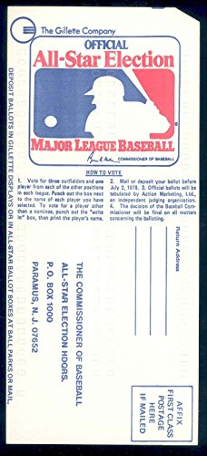 1978-gillette-all-star-game-official-baseball-mlb-ballot