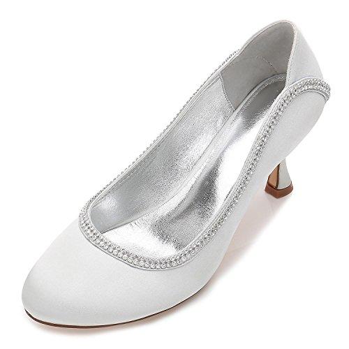 Bas Chaussures Mariée Satin Talonnette 47 T De Chaussures 17061 Dentelle En Mariage Faible Argent Chaussures Femmes Yc L De Chaussures OwzSqB