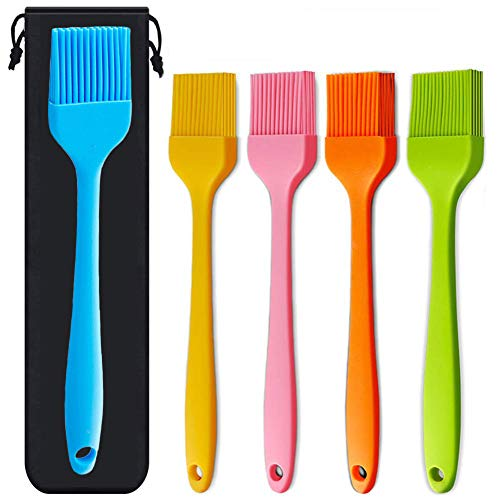 BASONG Silicone Basting Brush 5 pack Different Color Kitchen Cooking Brush for BBQ, Pastry, Oil, Turkey Baster, Pickling Sauce and Desserts Baking.
