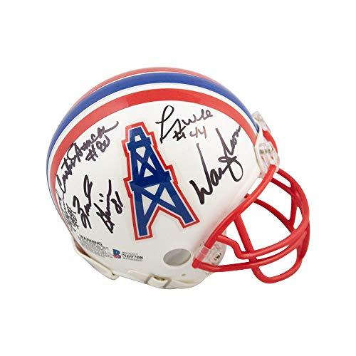 Houston Oilers Memorabilia - Run N Shoot Autographed Houston Oilers Mini Football Helmet - BAS COA