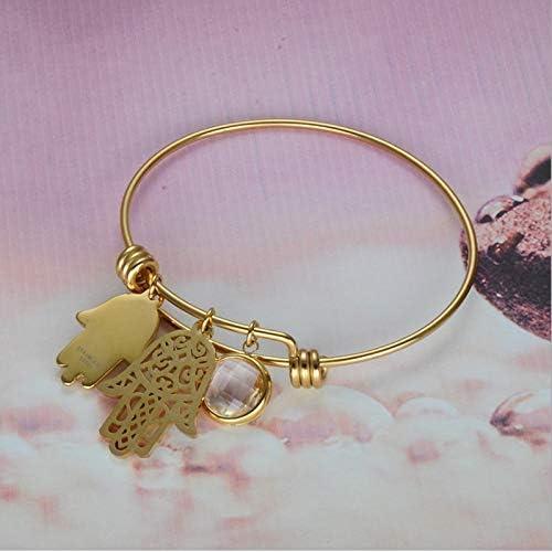 protecting hand vintage Hamsa hand bracelet in stainless steel black silver blogger statement bracelet