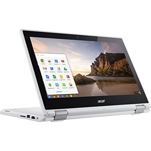 "Acer - R 11 CB5-132T-C8ZW 2-in-1 11.6"" Touch-Screen Chromebook - Intel Celeron - 4GB Memory - 16GB eMMC Flash Memor"