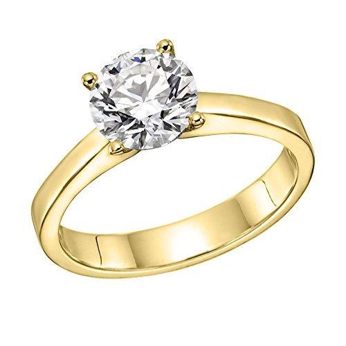 1/2 cttw IGI Certified VS Diamond Engagement Ring in 14K Yellow Gold (1/2 cttw, L-M Color, VS2 Clarity) - Size 5