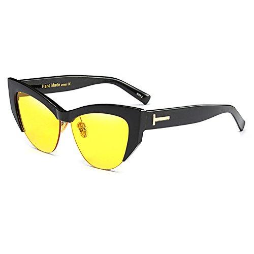 para Gafas FuyingdaGafas de gato moda a C5 mujer la ojo sol retro Cateye de w6tUZqxAtX