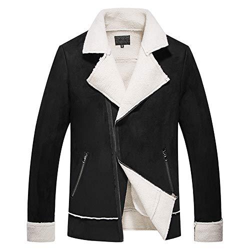 Longue Coat Manteau Fantaisiez Poche Manteaux Hommes Denim Vrac Jacket Automne Revers En Manche Homme Tops Noir4 Coton Veste Épais Hiver Décontractée a77wBrdq