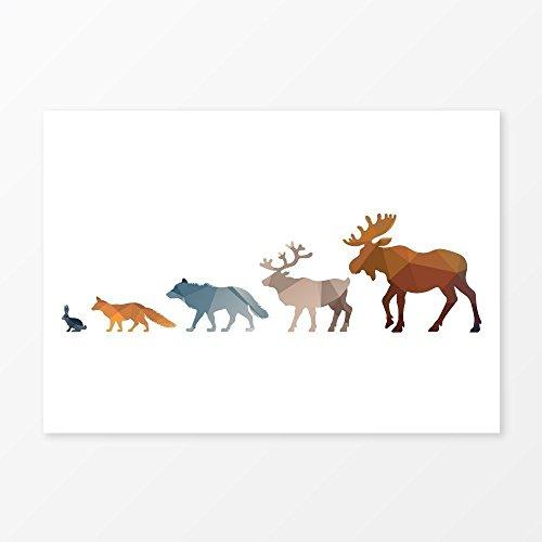 Marina Triangle Top (Woodland Animals Nursery Wall Art Print, Size 5x7, 8x10, 11x14, A5, A4 or A3, Forest Animal Home Decor)