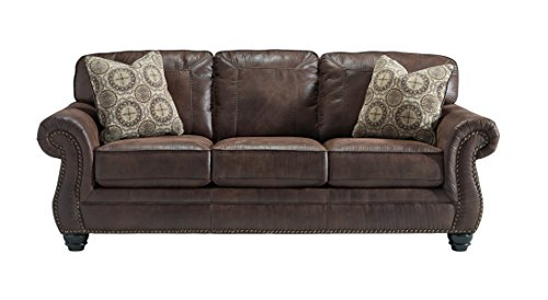 amazon com benchcraft breville traditional faux leather sofa rh amazon com benchcraft leather furniture benchcraft leather couch