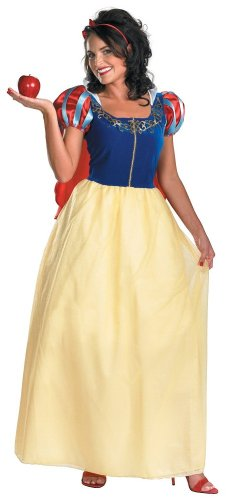 Disguise Women's Disney Snow White Deluxe Costume, Yellow/Red/Blue, Medium