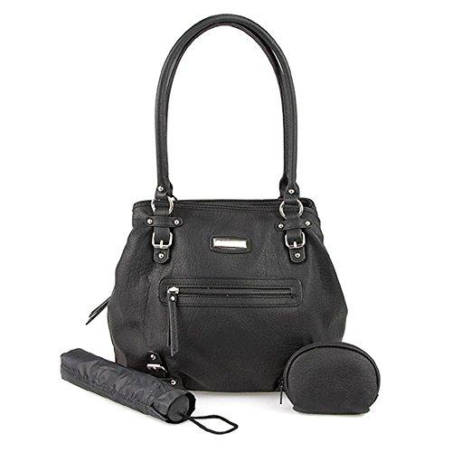 with Umbrella 789 Purse and Shoulder Pavers Bag Black 306 qvEwBnZ