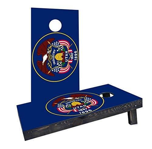 【激安大特価!】 Custom Cornhole Boards Boards Incorporated Cornhole CCB243-2x4-C-RH Utah State B07HLF1ZPH Flag Cornhole Boards [並行輸入品] B07HLF1ZPH, 神戸 宝光堂:9ca58965 --- vanhavertotgracht.nl