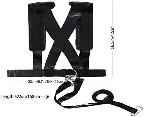 Pro Sled Harness Vest /& Pulling Strap Fitness Resistance Band Speed Trainer