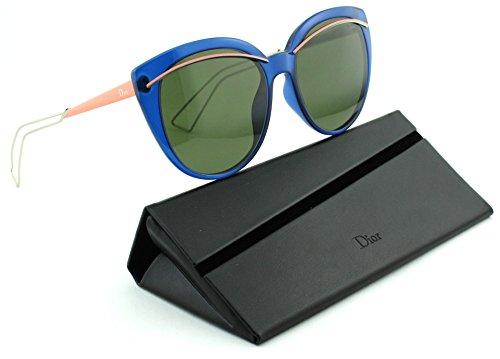 843dee21baa6 Dior Liner Women Round Sunglasses (Blue Light Gold Frame