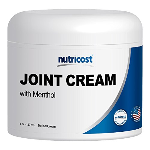 Nutricost Joint Cream With Menthol (4oz) - Topical Cream for Legs, Arms, Back and Joints ()