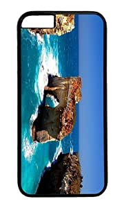 Adorable Coast Island Rock Hard Case Protective Shell Cell Phone Cover For Samsung Galaxy Note2 N7100/N7102 - PC Black