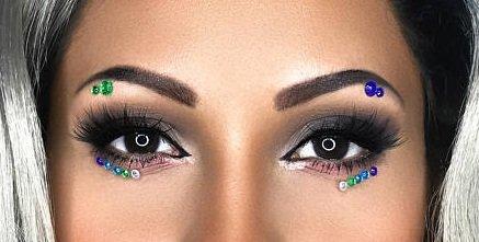 Brazilian Nights - Eye Sticker Body Art Crystals