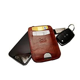 Ultra Slim Front Pocket Authentic Leather Wallet with integrated Military Grade RFID Blocking