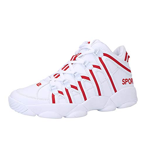 699e397bfb43f Oliviavan Men's Basketball Shoes Skid-Proof Breathable Shoes Hard-Wearing  Mesh Shoes