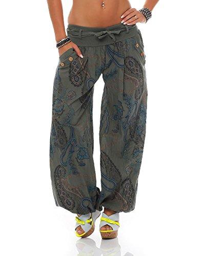 Unica In Taglia Bloomers Cotone Ladies Summer Stampati Esercito Cintura Pantaloni Con Zarmexx xvwFq6gx