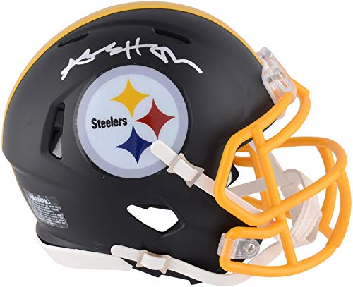 Pittsburgh Steelers Autographed Authentic Helmet - Antonio Brown Pittsburgh Steelers Autographed Riddell Black Matte Alternate Speed Mini Helmet - Fanatics Authentic Certified
