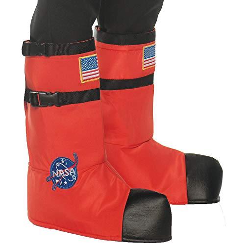 Fun Express - Astro Boot Tops Child Orange for Halloween - Apparel Accessories - Costume Accessories - Costume Kits - Halloween - 1 Piece