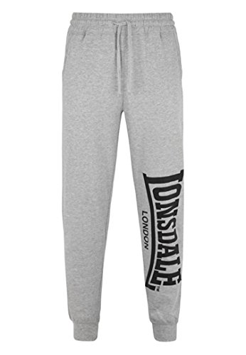 Lonsdale Men´s Logo Sweatpants Jogging Training Pants Trousers Grey (X-Large (XL)) (Training Lonsdale)