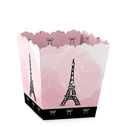 Paris, Ooh La La - Party Mini Favor Boxes - Paris Themed Baby Shower or Birthday Party Treat Candy Boxes - Set of 12 ()