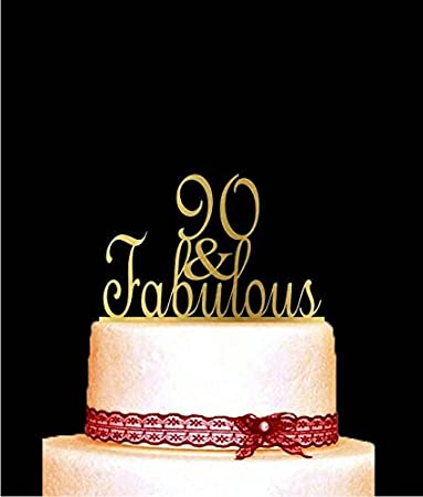 90 And Fabulous Cake Topper For Birthday Anniversary 90th Happy