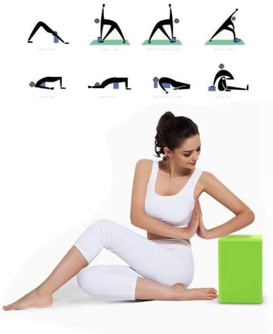 Yoga Block gr/ün Heimtraining Pilates Tool Foaming Foam Block f/ür Frauen