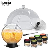 Smoking Gun Accessory Set, 11 PCS, Food Smoke Infuser Accessories - Disk Lid and Cocktail Ball Glass with Straw for Drink Smoker, Dome for Cold Smoke, Cloche Lid for Drinks, 7 Flavors Wood Chips