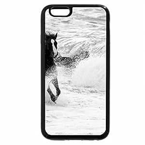 iPhone 6S Case, iPhone 6 Case (Black & White) - Wave
