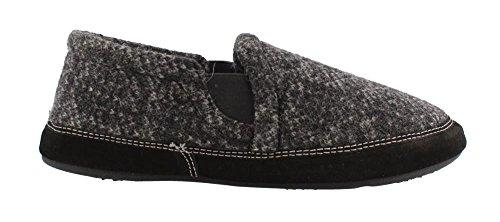 e Slipper, Charcoal Tweed, X-Large Wide/ 12-13 US ()