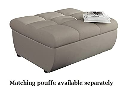 Sofá tamaño XL para 6 personas, tamaño extra grande, de piel ...