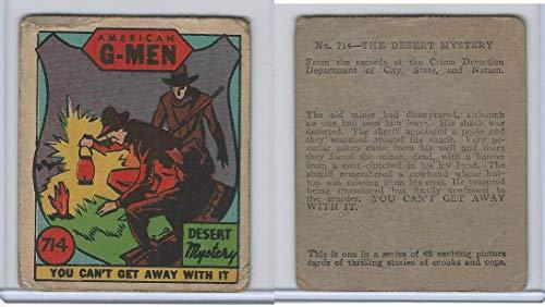 R13 Strip Card, American G-Men, 1930's, 714 Desert Mystery