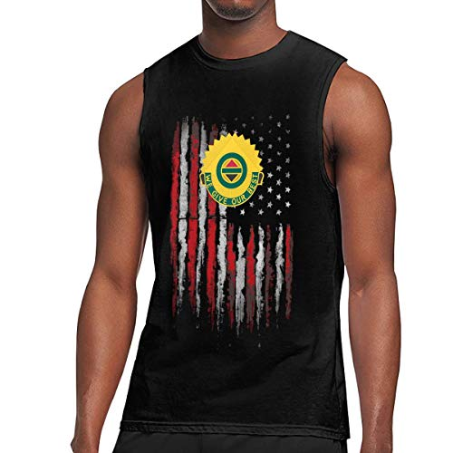 Army 14th Military Police Brigade Unit Crest Mens Tank Top Jersey Training Tank Black