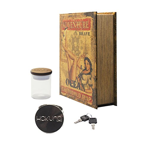 Hakuna Discreet Pin Up Locking Book Box - Hakuna Grinder, Hakuna Stash Jar
