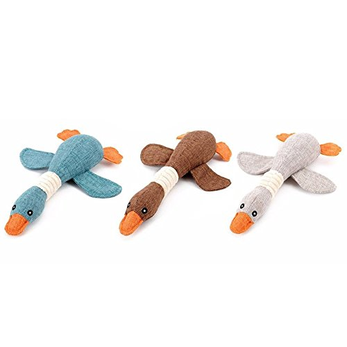TLHOME Pet Dog Squeaky toy Flying Duck Shape Training Chew Toy Pack of 3 free shipping
