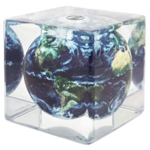 MOVA Earth with Clouds Globe Cube 5''