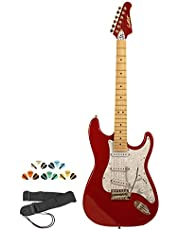 Sawtooth Electric Guitar Kit - Includes: Strap, Picks & Online Lesson