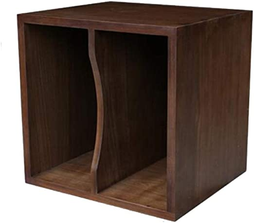 LP Storage Crate Vinyl Record Shelves Bins Rack 3 Shelf Albums Organizer Brown