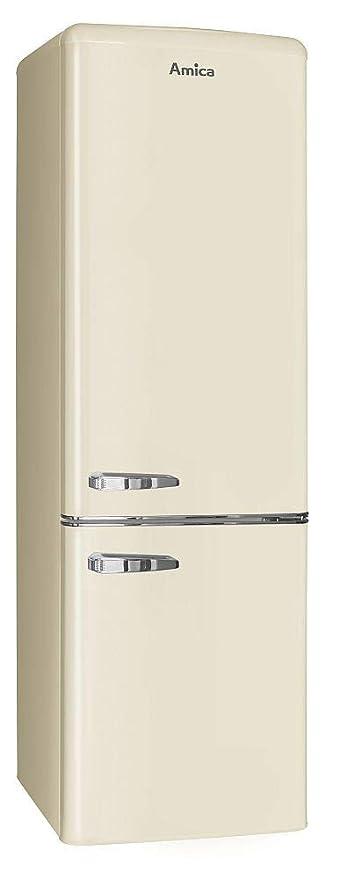 Amica kgcr 387 100 B nevera/congelador Coffee de Cream Retro de ...