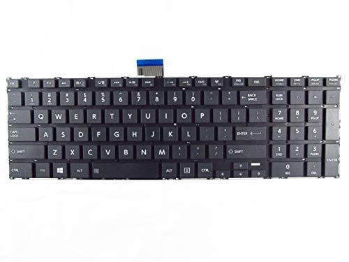 llite 9Z.N7USV.A01 Black US Laptop Keyboard + Clear Protector Cover ()