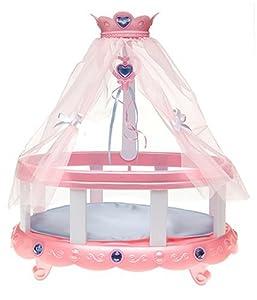 Amazon Com Princess Alexa Crib With Sheer Canopy Mobile