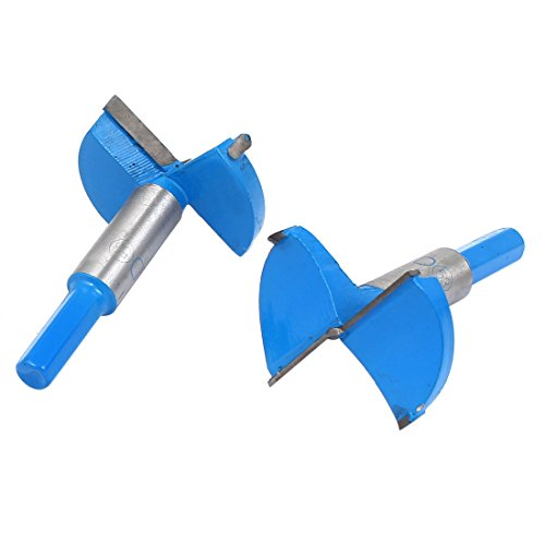 Uxcell a16010500ux0166 53mm Forstner Woodwork Hinge Boring Hole Saw Drill Bit Cutter 2 Pcs, -