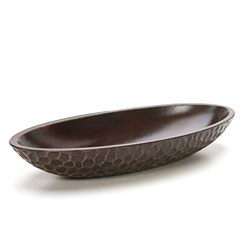 "Hosley's Honeycomb Wood Decor Bowl, 14.3"" Long, For Orbs, Dried potpourri etc. Ideal Gift for Study, Den, Dorm, Home, Weddings, Spa, Reiki, Meditation"