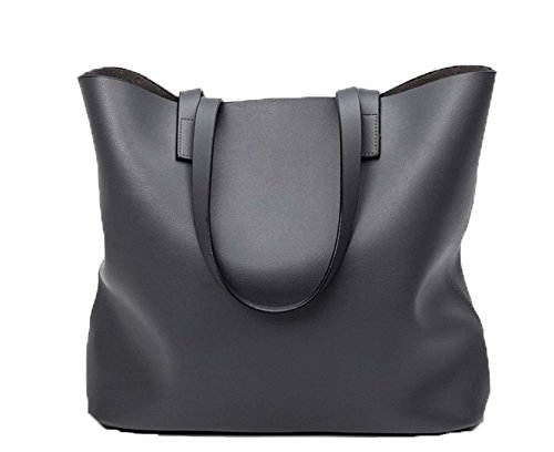 Borse Grigio Perla Di Tote Tessuto Tela Voguezone009 Donna style borse Shopping Tote wZ8xOq