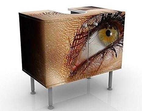 Apalis Waschbeckenunterschrank Spotlight 60x55x35cm Design Waschtisch, Größe:55cm x 60cm
