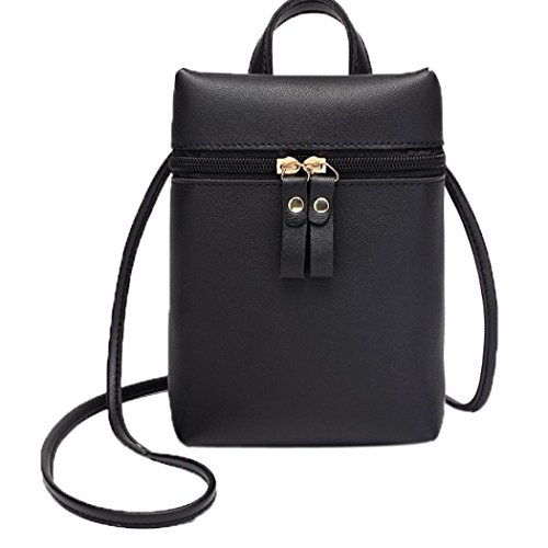 Square Inkach Small Messenger Girls Black Shoulder Cross Purses Bags Mini Bag Handbags Body by Coin Womens Chic Mini ArAqY4w